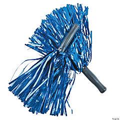 Shiny Blue Pom-Poms