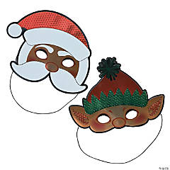 Shiny Christmas Character Masks