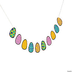 Shiny Easter Egg Garland Banner