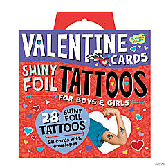 Shiny Foil Tattoo Super Fun Valentines Pack
