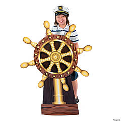 Ship's Wheel Cardboard Stand-Up