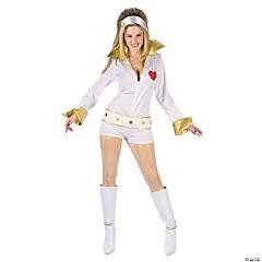 Short Elvis Jumpsuit Costume For Women