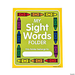 Sight Word Pocket Folders