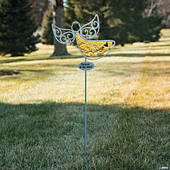 Silhouette Angel Yard Stake