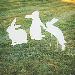 Silhouette Bunny Yard Stakes
