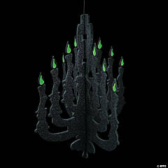 Silhouette Chandelier with Glow-In-The Dark Flames