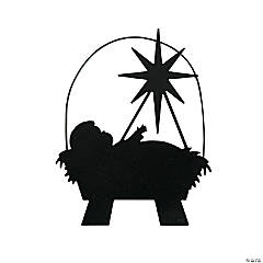 Silhouette Manger Ornaments