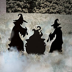 Silhouette Witch Yard Signs Halloween Décor