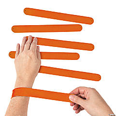 Silicone Orange Slap Bracelets