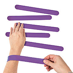Silicone Purple Slap Bracelets