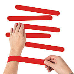 Silicone Red Slap Bracelets