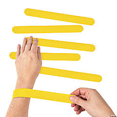 Silicone Yellow Slap Bracelets