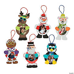 Silly Christmas Character Picture Frame Ornament Craft Kit