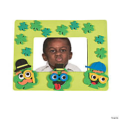 Silly Face Shamrock Picture Frame Magnet Craft Kit