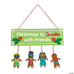 Silly Gingerbread Sign Craft Kit
