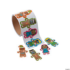 Silly Gingerbread Stickers