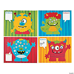 Silly Make-A-Monster Sticker Scenes