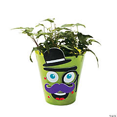 Silly Mustache Flowerpot Craft Kit