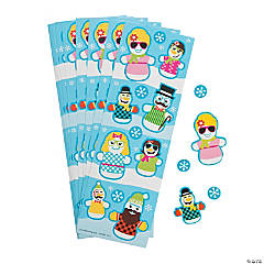 Silly Snowman Sticker Sheets