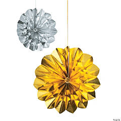 Silver & Gold Hanging Fans