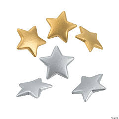 Silver & Gold Star Buttons