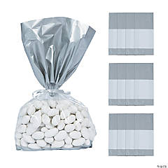 Silver Banded Cellophane Bags