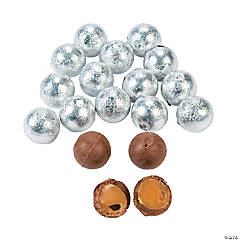 Silver Caramel Balls Chocolate Candy
