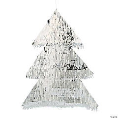 Silver Christmas Tree Hanging Decoration