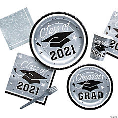 Silver Class of 2016 Graduation Party Supplies