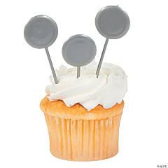Silver Cupcake Picks