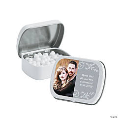 Silver Custom Photo Mint Tins