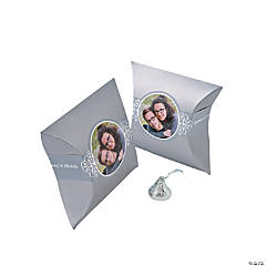 Silver Custom Photo Pillow Boxes