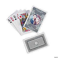 Silver Custom Photo Playing Cards