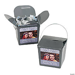 Silver Custom Photo Take Out Boxes