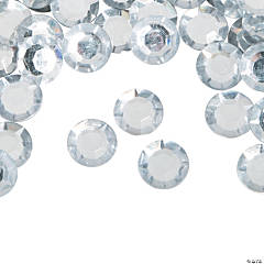Silver Faceted Round Gems - Large