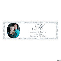 Silver Flourish Medium Custom Photo Banner
