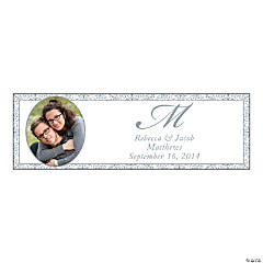 Silver Flourish Small Custom Photo Banner