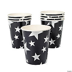 Silver Foil Star Paper Cups