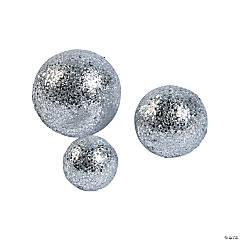 Silver Glitter Balls