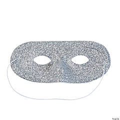 Silver Glitter Masks