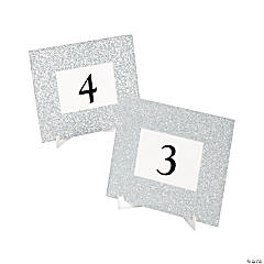 Silver Glitter Table Frames