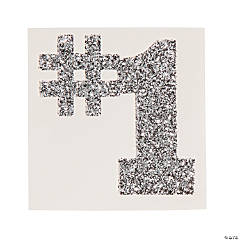 #1 Silver Glitter Tattoo Stickers