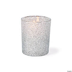 Silver Glitter Votive Holders