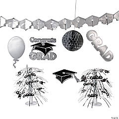Silver Graduation Decorating Kit