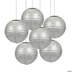 Silver Hanging Paper Lanterns