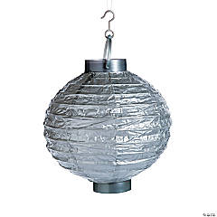 Silver Light-Up Hanging Paper Lanterns