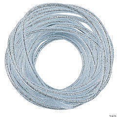 Silver Mesh Tube Ribbon