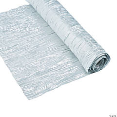 Silver Metallic Crepe Fabric Roll