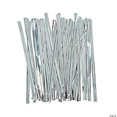 Silver Metallic Twist Ties
