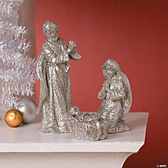 Silver Nativity Décor
